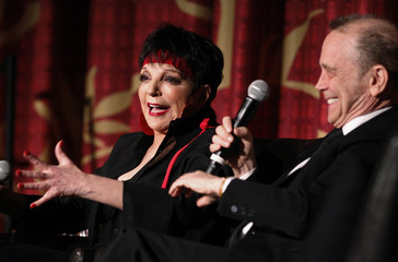 """Cast members Minnelli and Grey take part in a discussion at the world premiere of the 40th anniversary restoration of the film """"Cabaret"""" during the opening night gala of the 2012 TCM Classic Film Festival in Hollywood"""