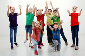 Charming children isolated on a over white background