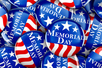 Memorial day button background