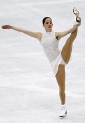 Lafuente of Spain performs during the women's free skating preliminary round at the ISU World Figure Skating Championships in Nice