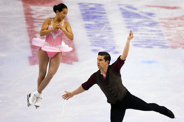 Felicia Zhang and Nathan Bartholomay compete in the pairs short program competition at the U.S. Figure Skating Championships in Boston