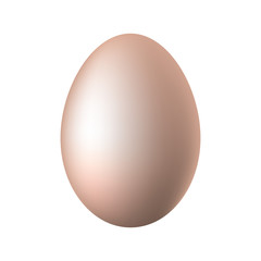 Egg on a white background. Vector illustration