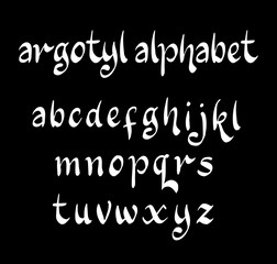 Argotyl vector alphabet lowercase characters. Good use for logotype, cover title, poster title, letterhead, body text, or any design you want. Easy to use, edit or change color.