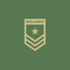 Soldier badge logo