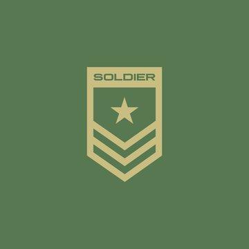 Soldier badge logo