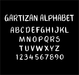 Gartizan vector alphabet uppercase characters. Good use for logotype, cover title, poster title, letterhead, body text, or any design you want. Easy to use, edit or change color.