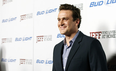 "Segel poses at the premiere of ""Jeff, Who Lives at Home"" at the Directors Guild of America theatre in Los Angeles"