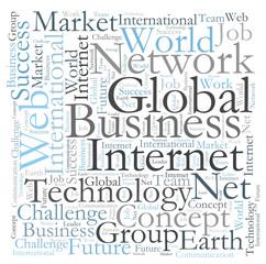 Global Business word cloud
