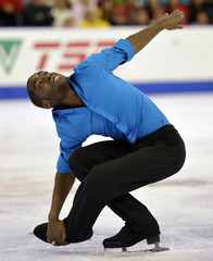 Fortin skates during the Men short program at the Canadian Figure Skating Championships in Moncton