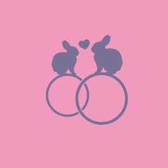 кольца с кроликами