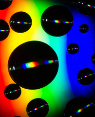 Abstract bubbles on compact disc