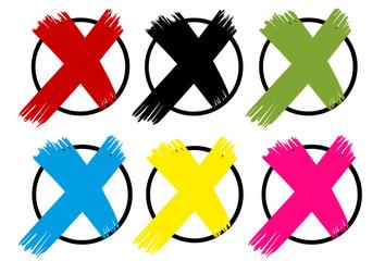 Wahlkreuze in Parteifarben GER