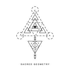 Sacred geometry sign, tattoo