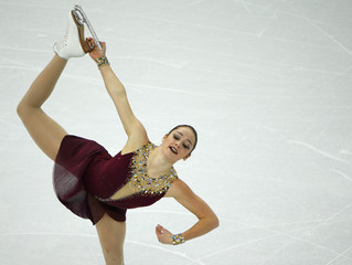 Osmond of Canada during team ladies' free skating at the Sochi 2014 Winter Olympics