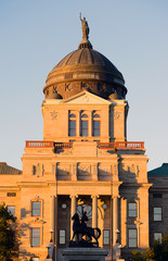 Vertical Front View Capital Dome Helena Montana State Building