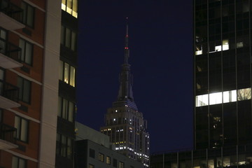 The Empire State Building remains dark in sympathy following the attacks in Paris, in the Manhattan borough of New York