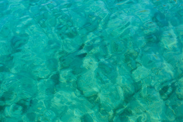 cyrstal clear turquoise water