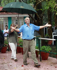 File photo of Mark Shand arriving for a photo opportunity at the Vazhacal waterfalls in Thrissur district