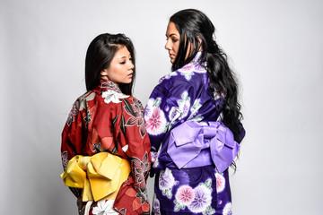 Models in Japanese Kimonos