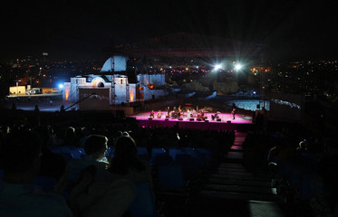 """U.S. band """"Pink Martini"""" performs during the Jordan Festival at the Amman Citadel, in Amman"""