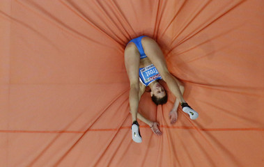 Trost of Italy competes in the High Jump Women Final at the European Athletics Indoor Championships in Gothenburg