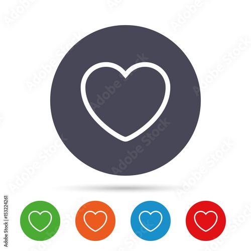 Heart Sign Icon Love Symbol Stock Afbeeldingen En Rechtenvrije