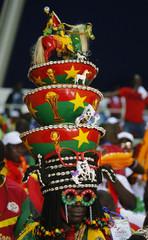 A Burkina Faso fan before the match