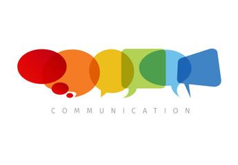 Minimalist Speech Bubble Communication Graphic