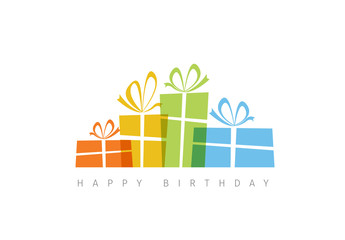 Minimalist Presents Happy Birthday Card