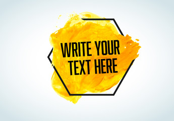 Text with Watercolor Background Graphic