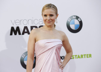 "Cast member Bell poses at the premiere of ""Veronica Mars"" in Hollywood"
