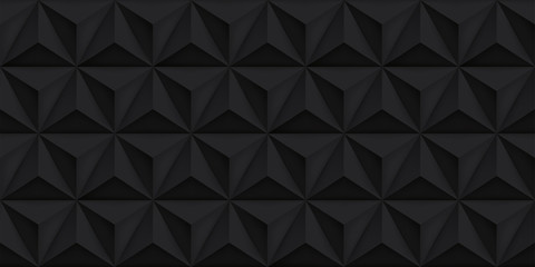 Vector triangles retro black background, mesh gradient, geometric wallpaper, dark pattern