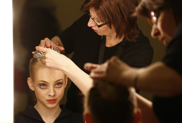 Lou Spichtig of Switzerland gets ready before the final of the 43rd Prix de Lausanne at the Beaulieu Theatre in Lausanne