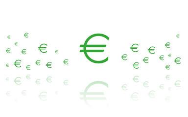Euro - Reflektierend Weiss