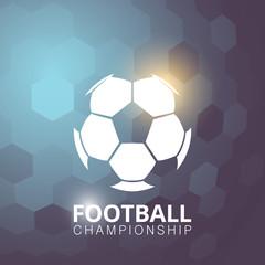 Football soccer ball abstract vector illustration background