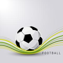 Football soccer ball sport vector abstract illustration background