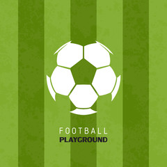 Football soccer playground logo sport vector illustration background