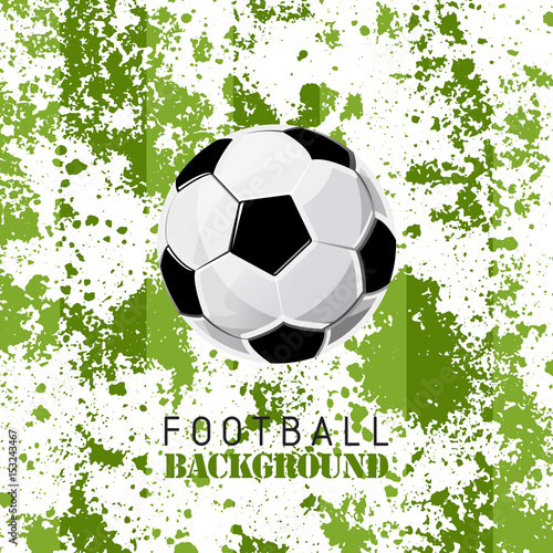 Football Tournament Poster Sport Soccer Vector Grunge Illustration Background