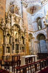 Spain, Santiago de Compostela. Pilgrimage cathedral of Santiago de Compostela. UNESCO World Heritage Site. Inside cathedral.