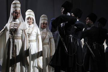 Dancers from the Al-Jeel Al-Jadeed Circassian Folklore Dance Troupe perform in Amman
