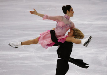 Meryl Davis and Charlie White of the U.S. compete during the Figure Skating Ice Dance Short Dance Program at the Sochi 2014 Winter Olympics