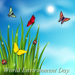 World environment day postcard background.