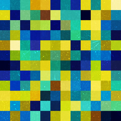 Geometric pattern for business presentations or web template banner flyer. Seamless. Vector illustration. Yellow, green, blue colors.