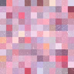 Vintage seamless abstract background with pastel pink squares, vector illustration