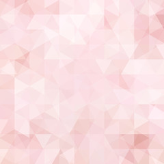 Background of pastel pink, white geometric shapes. Abstract triangle geometrical background. Mosaic pattern. Vector EPS 10. Vector illustration