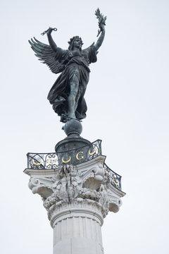 Europe, France, Bordeaux, Gironde Aquitaine, UNESCO World Heritage Site, Monument Aux Girondins, Fontaine Des Quinconces.