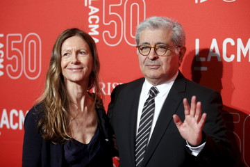 Jane Semel and LACMA board co-chair Terry Semel poses at LACMA's 50th anniversary gala in Los Angeles