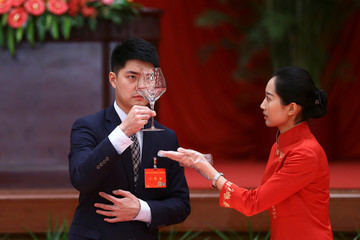 National Day is celebrated at the Great Hall of the People in Beijing