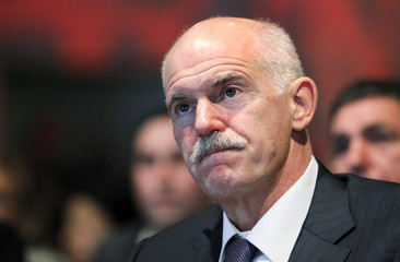 Former Greek PM Papandreou attends the PES Progressive Convention in Brussels