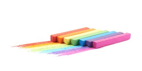 Rainbow gradient made of chalks